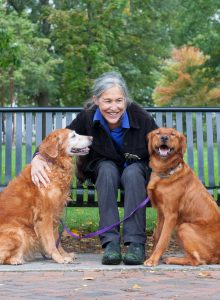 Jane Miller and pups